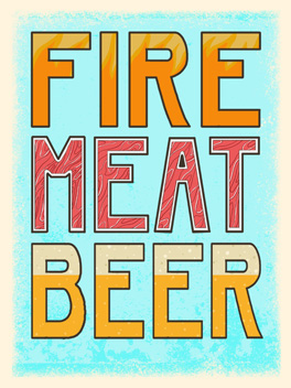 fire meat beer bromance card