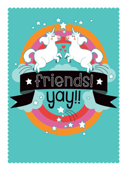 fun friends life, etc. card