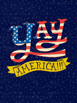 america rocks 4th of july card
