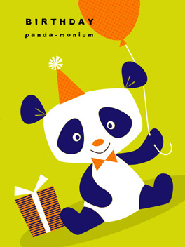 panda-monium birthday card