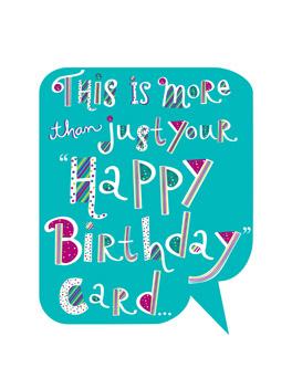 born today birthday card