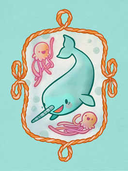 narwhal and friends life, etc. card