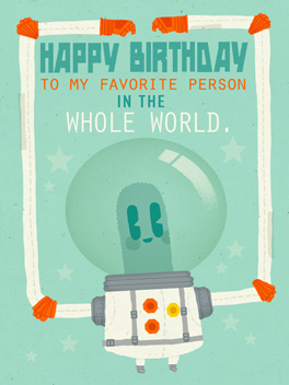 worldly wonder birthday card