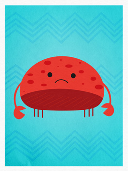crabby cake miss you card