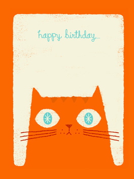 furry wishes birthday card