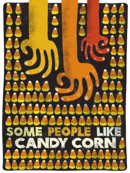 candy scorn halloween card
