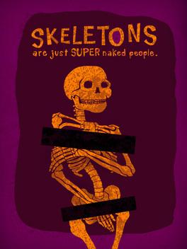bare bones halloween card