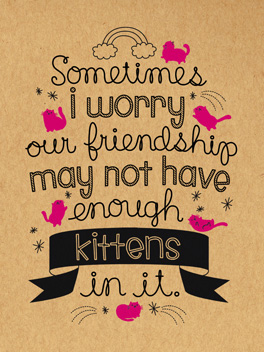 here kitty kitty friends rule card