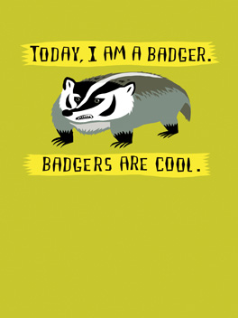 badass badger life, etc. card