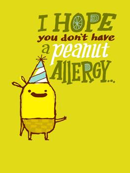 go nuts birthday card