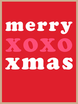 xox-mas christmas card