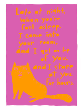 kreepy kitty birthday card