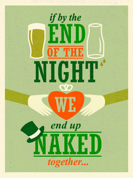lucky night st. patrick's day card