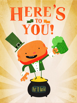 cheers to you st. patrick's day card