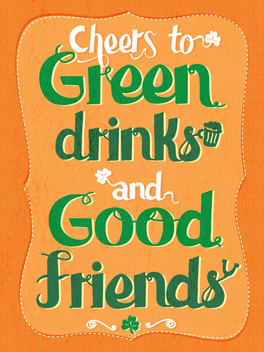drinks and friends st. patrick's day card
