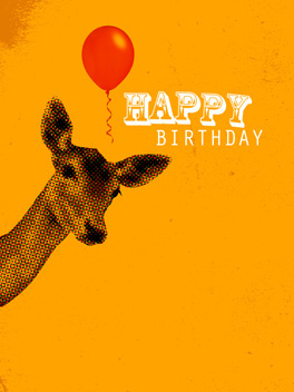 Deer Friend birthday card