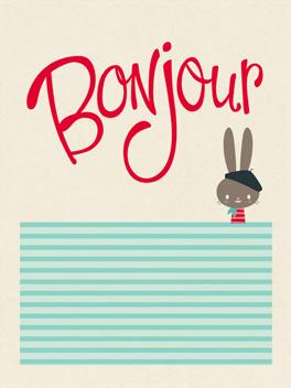 Bonjour life, etc. card