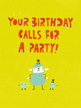 boogie party birthday card