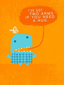 hugs or drinks cheer-ups card