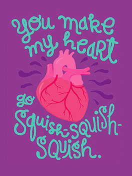 squishy love life, etc. card
