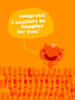 sincere congrats just congrats card