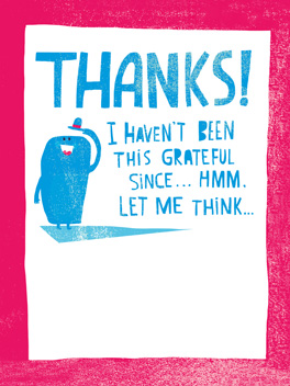 always grateful thanks card