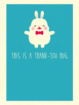 huggy thanks thanks card