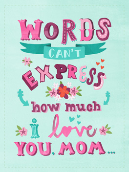 no words mother's day card