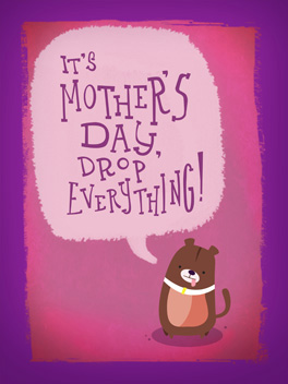sweepless night mother's day card