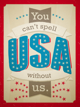 you, me and liberty 4th of july card