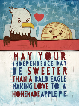 sweet lovin' 4th of july card