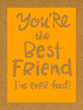 #1 friend birthday card