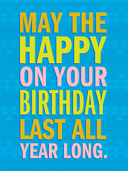 happy thoughts birthday card