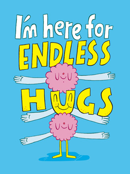 endless hugs fashionably late birthday card