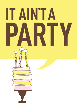 party on birthday card