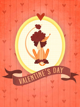 French and poofy? valentine's day card