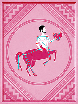 horsing around valentine's day card