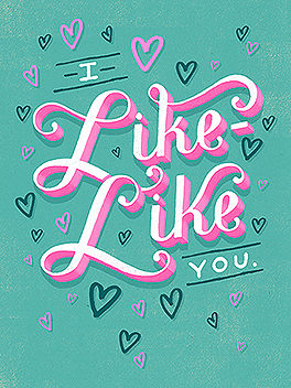 "the ""L"" word valentine's day card"
