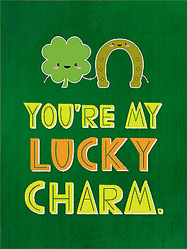 lucky me st. patrick's day card