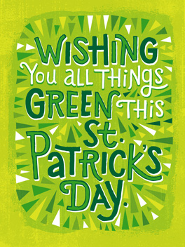 F U kale st. patrick's day card
