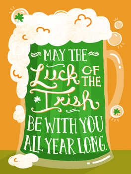 sober up st. patrick's day card