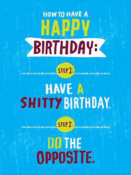 instructions birthday card