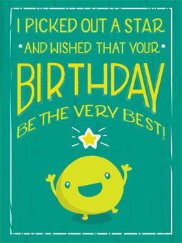 good wishing birthday card