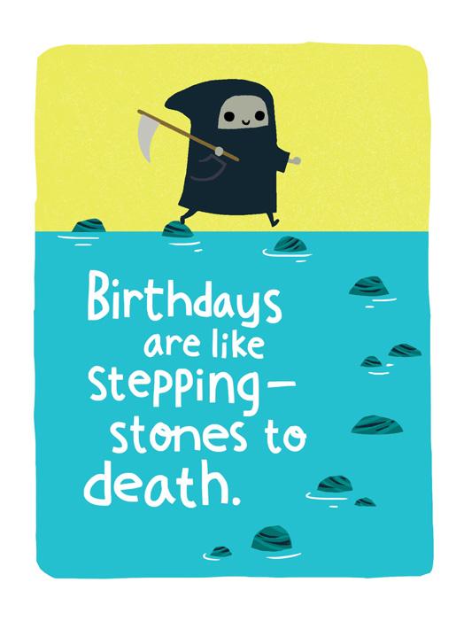 Kinda Grim Card Birthday Greeting Card Justwink Cards