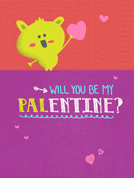 pals valentine's day card