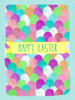 jelly beans! easter card
