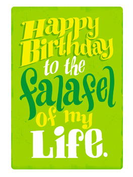 birthday falafel birthday card