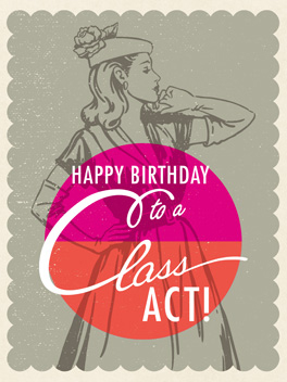 class act birthday card