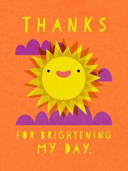 bright and shiny thanks card