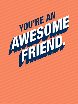 awesome friend friends rule card